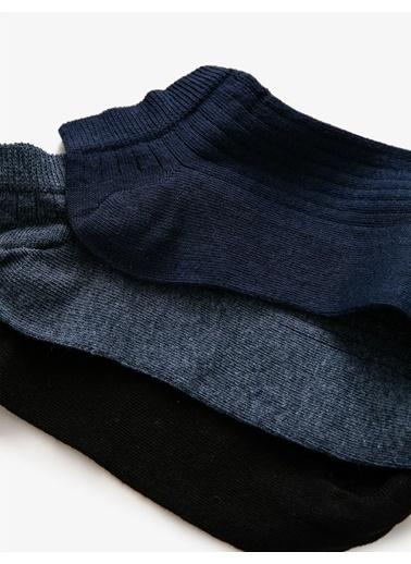 Koton Erkek 3'Lü Basic Çorap Seti Kahve